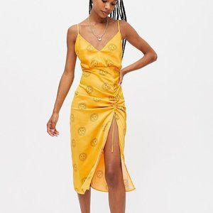 NWT Urban Outfitters Yellow Sun Slip Dress Midi